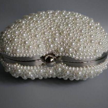 High-grade pearl bag handbag, bride..