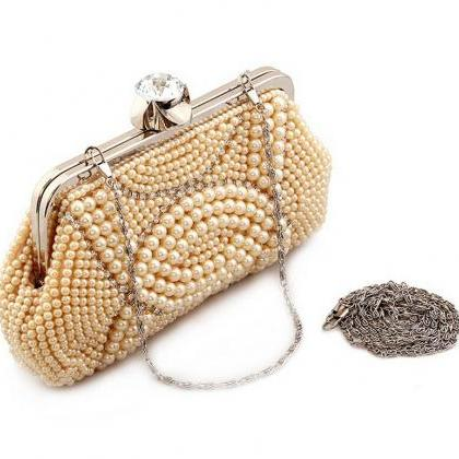 High-grade Women Hand-beaded Clutch..