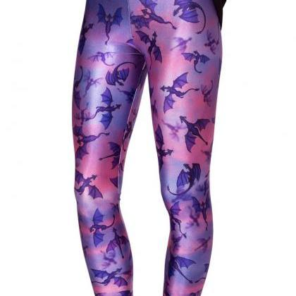 Printed Leggings Pants Sexy Slim L..