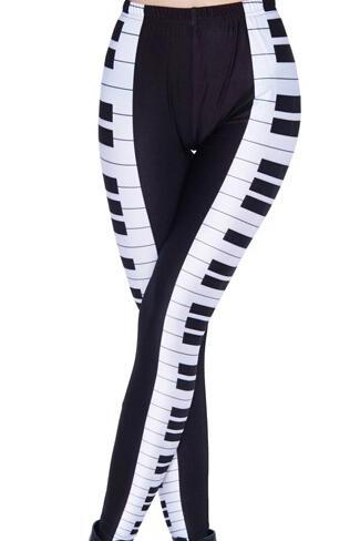 3D Printed Leggings Pants Sexy Slim Long Pencil Trousers/Piano Fashion Tights