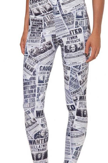 Printed Leggings Pants Sexy Slim Long Pencil Trousers/Fashion Tights