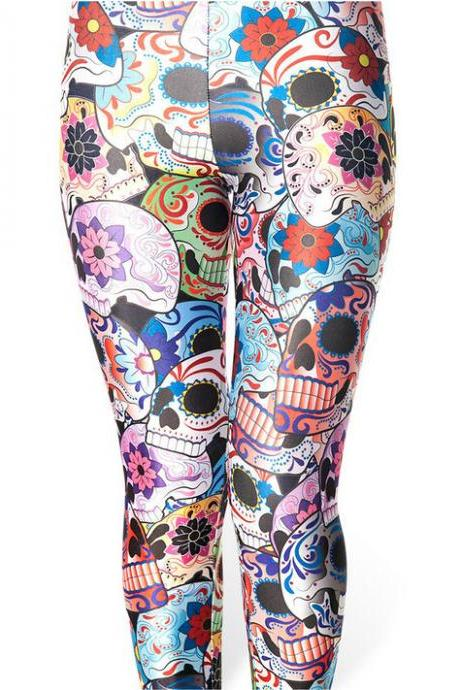 Printed Leggings Pants Sexy Slim Long Pencil Trousers/Fashion Tights Lgs3044