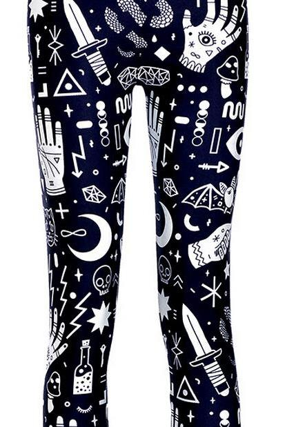 Printed Leggings Pants Sexy Slim Long Pencil Trousers/Fashion Tights Lgs3628
