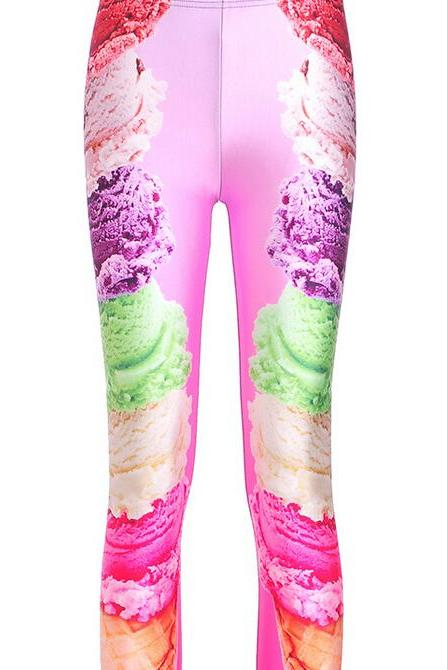 Printed Leggings Pants Sexy Slim Long Pencil Trousers/Fashion Tights Lgs3618