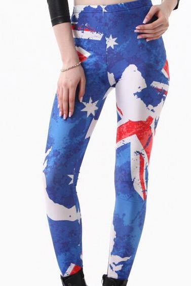Printed Leggings Pants Sexy Slim Long Pencil Trousers/Fashion Tights/Yoga pant Lgs3213