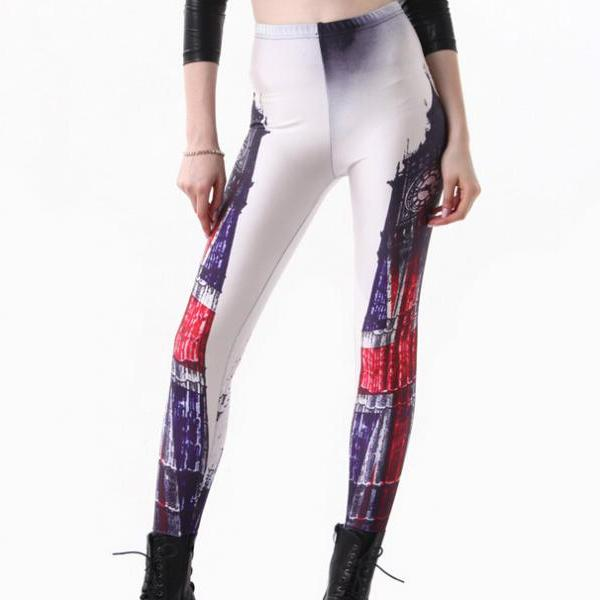Printed Leggings Pants Sexy Slim Long Pencil Trousers/Fashion Tights/Yoga pant Lgs3215